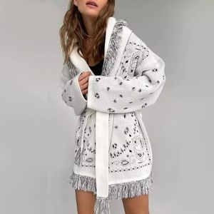 Boho Fringe Oversized Knitted Kimono Sash Cardigan